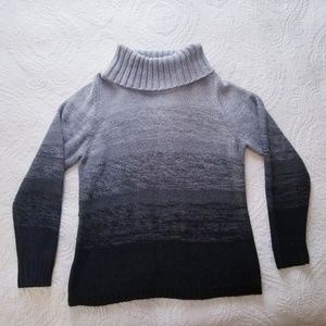 Gray Gradient, Turtle neck, Cozy Sweater